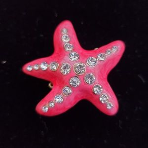 Red starfish ring